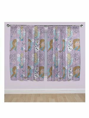"100% Official Disney Frozen Crystal - 66"" Wide  x 72"" Drop Curtains"