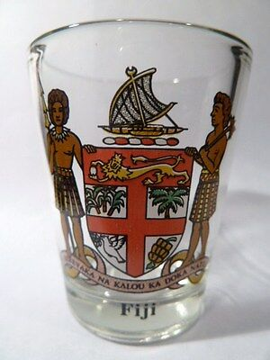 Fiji Coat Of Arms Shot Glass Shotglass