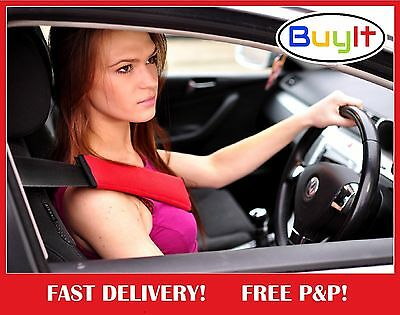 5pcs Seat Belt Safety Cover Cushioned Pads Shoulder Strap Harness BLACK GREY RED