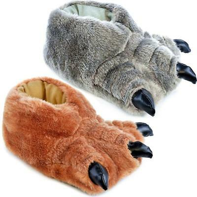 Kids Slippers Boys Girls Novelty Bear Claw Slippers Winter Warm Shoes Size