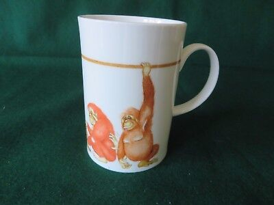 DUNOON WILD BUNCH small mug by CHERRY DENMAN FINE BONE CHINA MADE IN ENGLAN