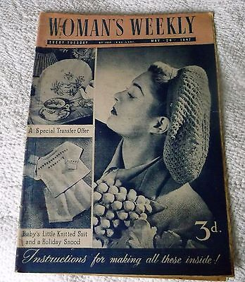 ORIGINAL, VINTAGE, WOMAN'S WEEKLY MAGAZINE MAY 24th 1947 No.1855 vol.LXXl