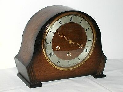 "Westminster Chime 7"" Clock, Smiths, 1940's–early 50's Mint Cond'n + Original key"