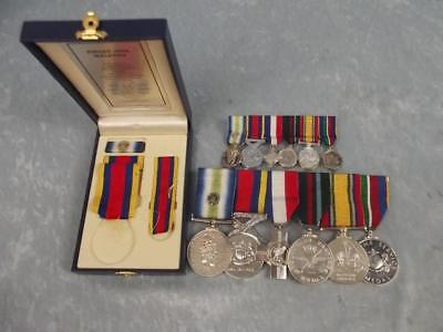 Medal Set Of Petty Officer D. Devlin Of The Royal Navy Ship HMS Alacrity