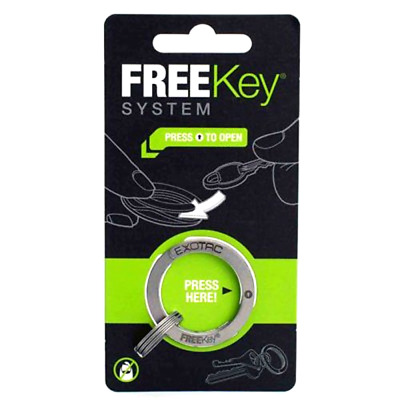 FreeKey System with Three Small Group Rings Stainless Steel Color 1 3/8 inches