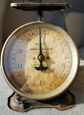 Antique Columbia Family Scale 24 Pounds Landers Frary Clark Works Rustic