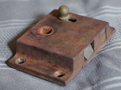 Antique Vintage Door Latch Lock with Small Brass Knob