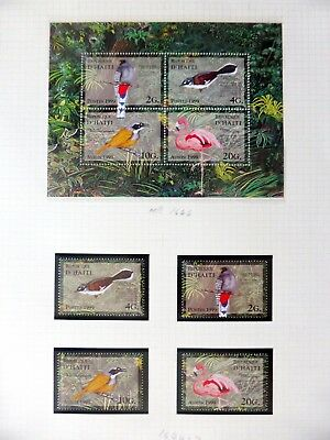 HAITI Birds Set & M/Sheet U/M NB3602