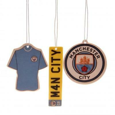 Manchester City Fc Man City 3 Pack Of In Car Air Freshener Fresheners