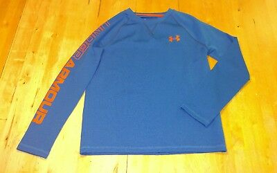 UNDER ARMOUR BOYS long sleeve loose fit SHIRT top SIZE YLG L LARGE SCHOOL blue