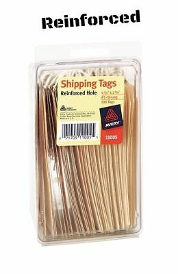 Strung Heavyweight Manila Shipping Tags string Wire 100 Pack Stock 4 3/4 x 2 3/8