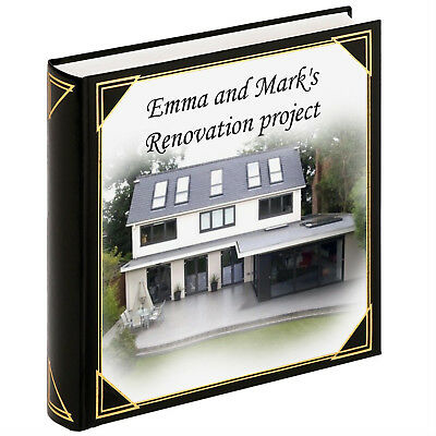 Personalised large photo album, guestbook, 400 6x4 photos, new home house album