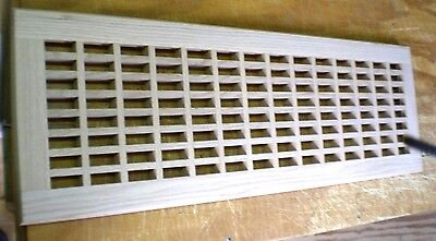"""Red Oak Wood Cold Air Return Register Vent Cover for a 24"""" L x 9"""" W Duct Opening"""