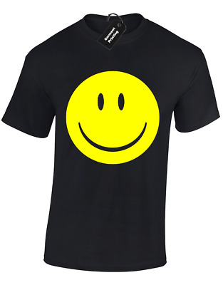 Smile Face Mens T Shirt Rave Music 90'S Acid House Hacienda Retro S - 5Xl