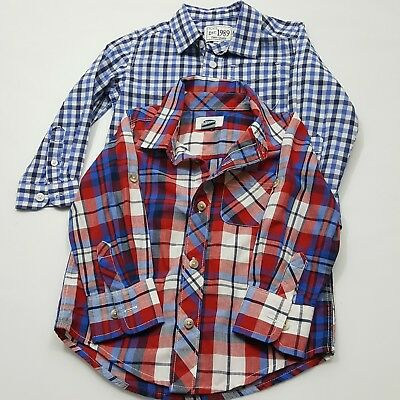 Old Navy Children's Place Toddler Boys Long Sleeve Shirts 2T Lot