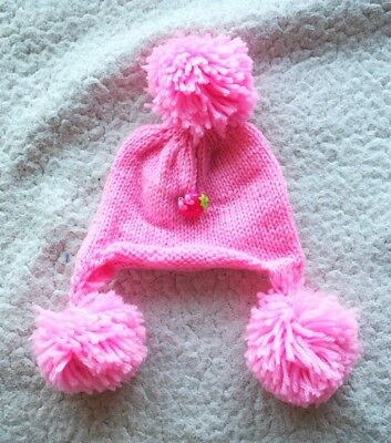 NEO BLYTHE Pink BEANIE with cute STRAWBERRY (HAT CAP GORRO). BRAND NEW.