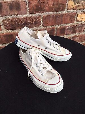 VTG Converse Shoes Blue Label Tab 1960s Size 7.5 White Chuck Taylor All Star USA