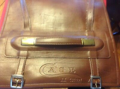 Vintage Case Xx Knives Leather Roll Up Carrying Case