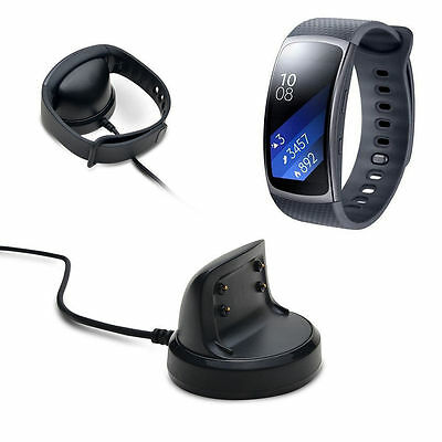 Charging Cradle Dock Charger Adapter for Samsung Gear Fit2 SM-R360 Smart Watch