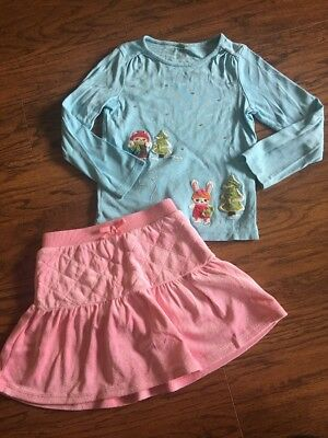 Gymboree Girls 6 Cozy Cutie Winter Holiday Blue Pink