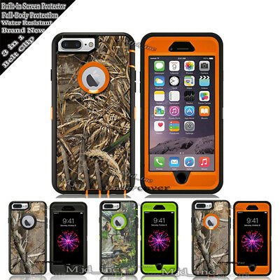 For iPhone 8 / 8 Plus Case [Clip Fits Otterbox Defender] Holster Camo
