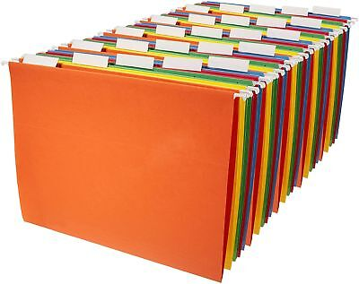 Hanging File Folders - Letter Size (25 Pack) - Assorted Colors