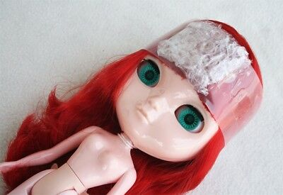 Nude ICY Doll (BLYTHE´s Twin. MUÑECA), RED LONG HAIR. Perfect for CUSTOM, NEW!