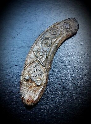 BRONZE ORNATE VIKING PLAQUE FORMED AS A SERPENT 9th A.D.