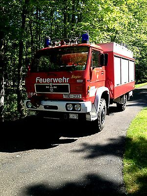 1984 M.A.N. / VW G80 4 WD truck w. enclosed box 1984 MAN/VW German fire dept. 4 WD Rescue Truck, all original, only 10700 miles