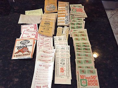 Vintage Grocery Store Bonus Stamps Green Stamp Lot