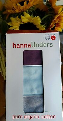 Nwt Hanna Andersson Organic Solid Hipster Unders Underwear L 140 150 10 12