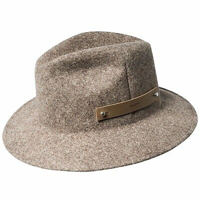 5062d6e63a632 Bailey Boley Men s Packable Long Teardrop Wool Felt Fedora Hat Dark Brown