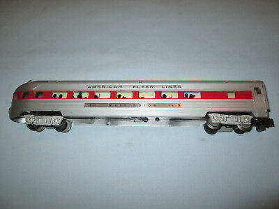 American Flyer #963 Red Stripe Illuminated Observation Car.