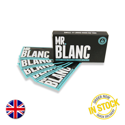 Mr Blanc Teeth Whitening Strips 28 Strips 14 Pouches 2 Weeks Supply (New, Boxed)