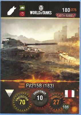 panini WORLD of tanks tradingcard #180 britische panzer