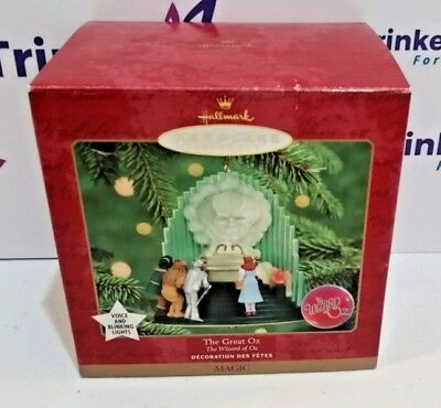 1999 Hallmark The Great Wizard of Oz Ornament Sound and Lights New