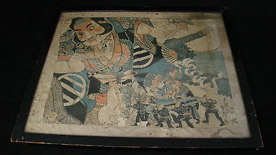 Beautiful Antique Japanese Emperor Ink Painting Great Subject Must See