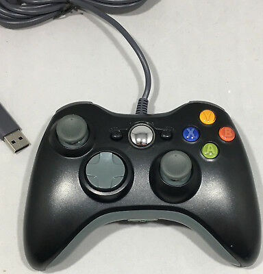 Controller Gamepad For The Xbox 360 Wired Black Brand New