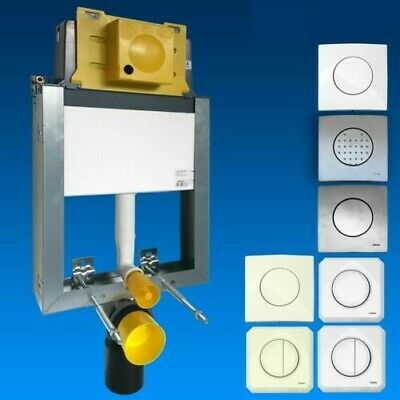 Wisa Mont bathroom Element to Wall In Wet Building Element UP Cistern Push Plate