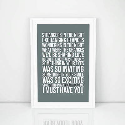 Fleetwood Mac Print Sara Lyrics song Poster A4 A3 Size Wall Artwork
