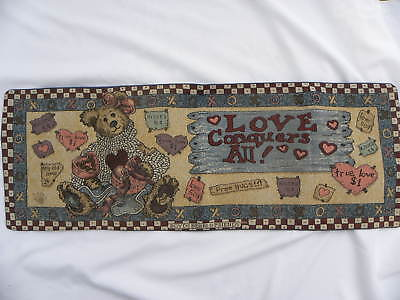 """Table Runner Boyd Bears & Friends Tapestry Love Conquers All 12 x 35"""""""