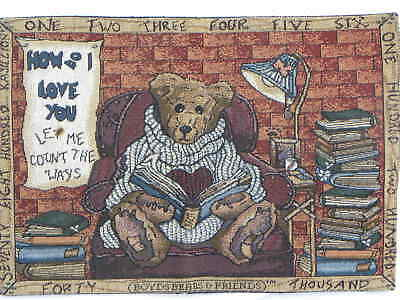 """Placemat Boyd Bears & Friends Tapestry Wilson 12 x 18"""""""