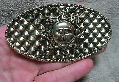 Vintage New Old Stock Lightweight Gold Metal Sun Hair Barrette With French Clip