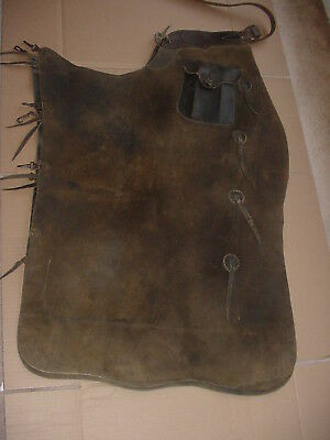 Old Pair Of Leather Western Cowboy Batwing Chaps