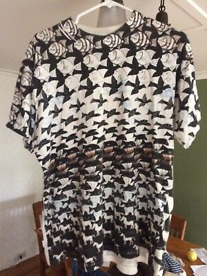 Vintage MC Escher T Shirt 90s All Over Print Mens Large