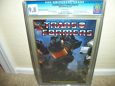 Transformers Infiltration # 2  CGC 9.8 1 in 50 Retailer Incentive edition  2006