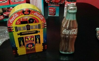 Coca-Cola  jukebox bottle tin LOT OF 2 NICE