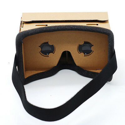 DIY Cardboard Brown VR Virtual Reality 3D Glasses For iPhone Google Smartphone