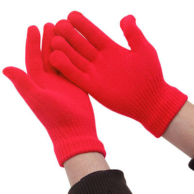 Winter Warm Kids Children Boys Girls Knit Gloves Full Finger Stretchy Mittens
