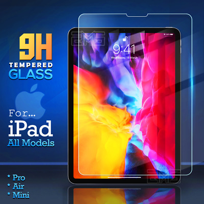 "Apple iPad Pro 11"" 12.9"" 2018 10.5"" 9.7"" inch Tempered Glass Screen Protector"